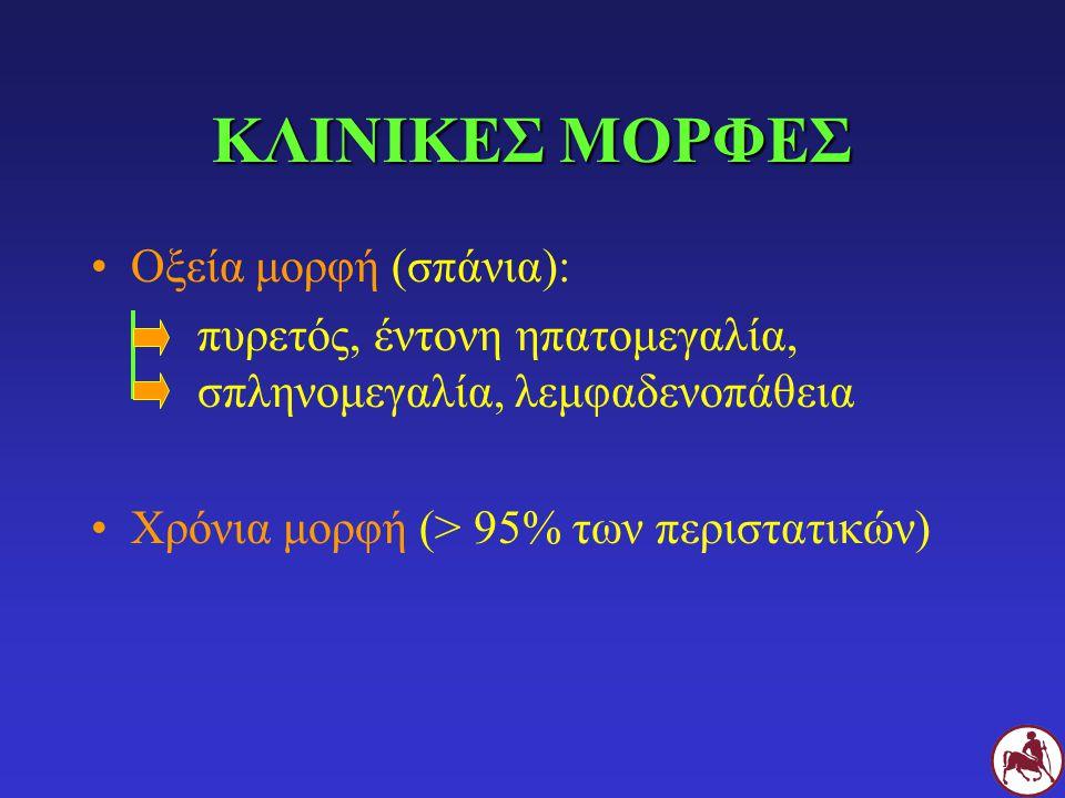 ΚΛΙΝΙΚΕΣ ΜΟΡΦΕΣ Οξεία μορφή (σπάνια):