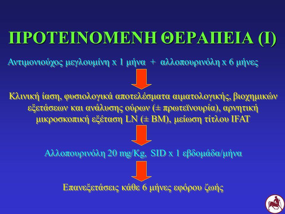 ΠΡΟΤΕΙΝΟΜΕΝΗ ΘΕΡΑΠΕΙΑ (I)