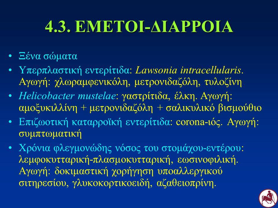 4.3. ΕΜΕΤΟΙ-ΔΙΑΡΡΟΙΑ Ξένα σώματα