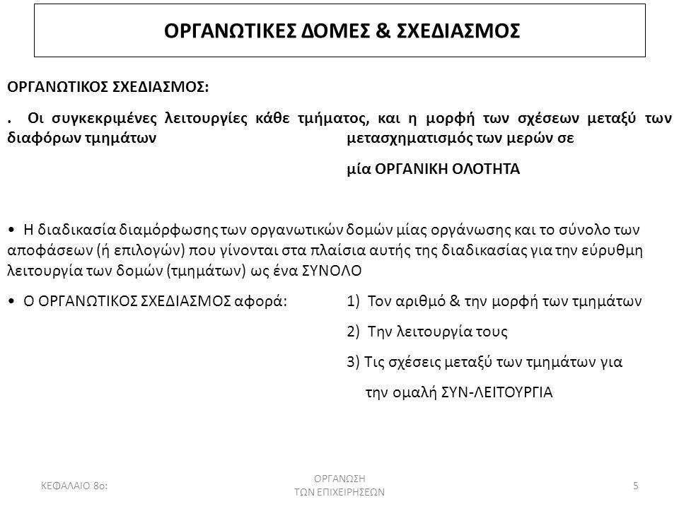 ΟΡΓΑΝΩΤΙΚΕΣ ΔΟΜΕΣ & ΣΧΕΔΙΑΣΜΟΣ