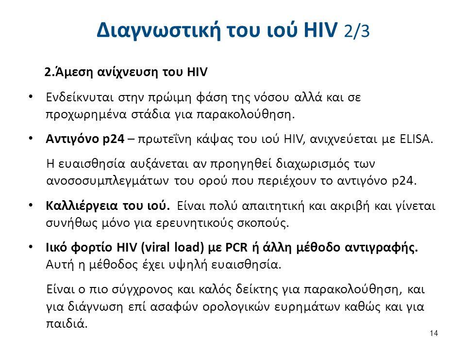 Διαγνωστική του ιού HIV 3/3