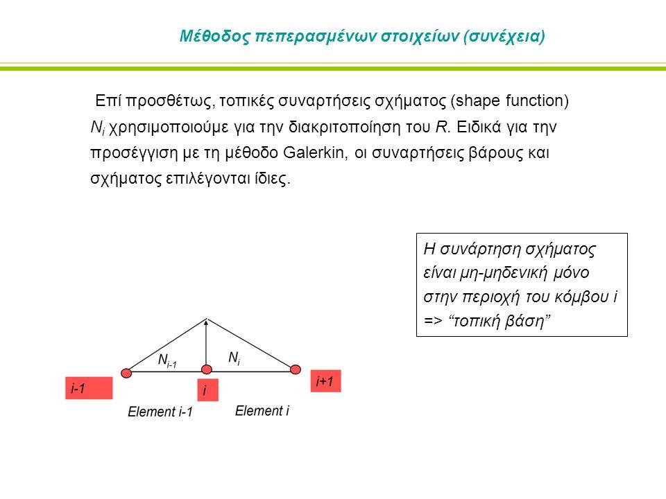 Μέθοδος πεπερασμένων στοιχείων (συνέχεια)