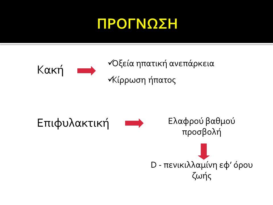 D - πενικιλλαμίνη εφ' όρου