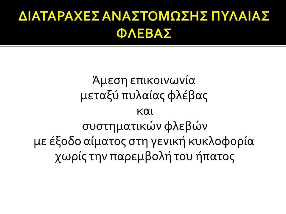 ΔΙΑΤΑΡΑΧΕΣ ΑΝΑΣΤΟΜΩΣΗΣ ΠΥΛΑΙΑΣ ΦΛΕΒΑΣ