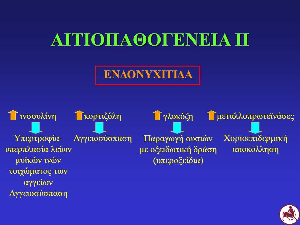 ΑΙΤΙΟΠΑΘΟΓΕΝΕΙΑ ΙΙ ΕΝΔΟΝΥΧΙΤΙΔΑ ινσουλίνη