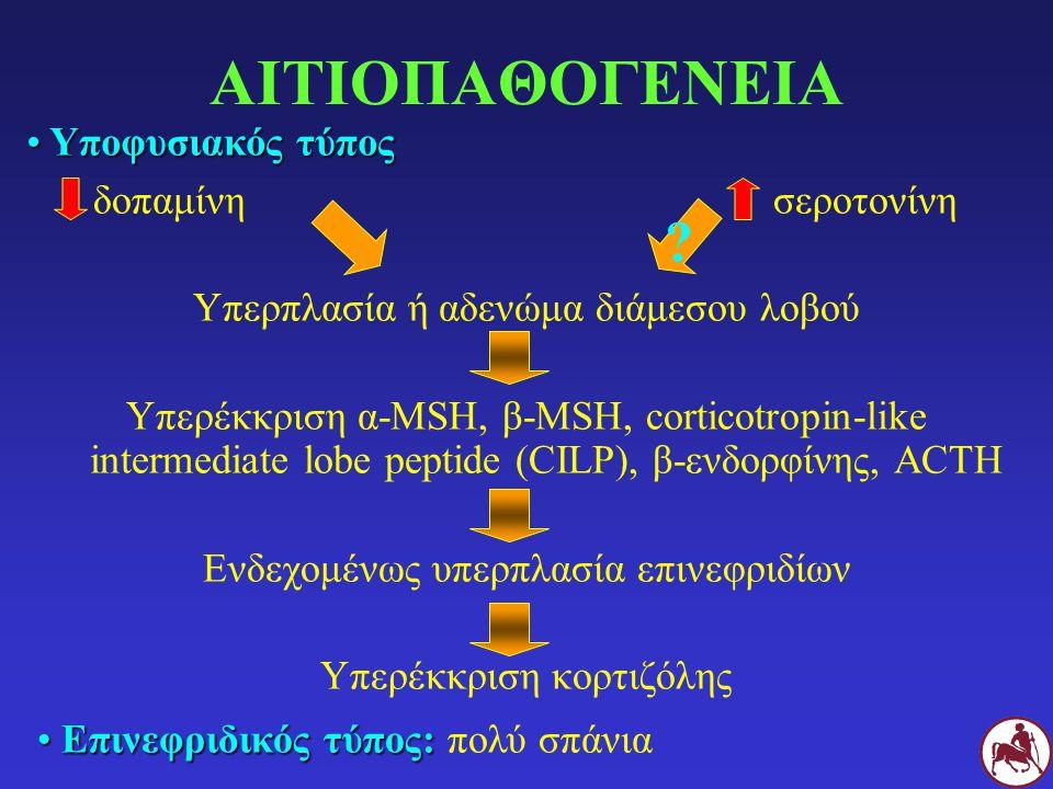 ΑΙΤΙΟΠΑΘΟΓΕΝΕΙΑ Υποφυσιακός τύπος δοπαμίνη σεροτονίνη