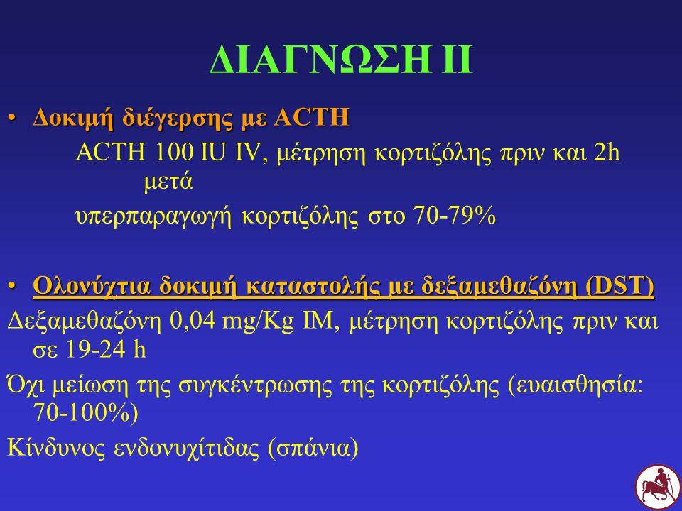 ΔΙΑΓΝΩΣΗ ΙΙ Δοκιμή διέγερσης με ACTH