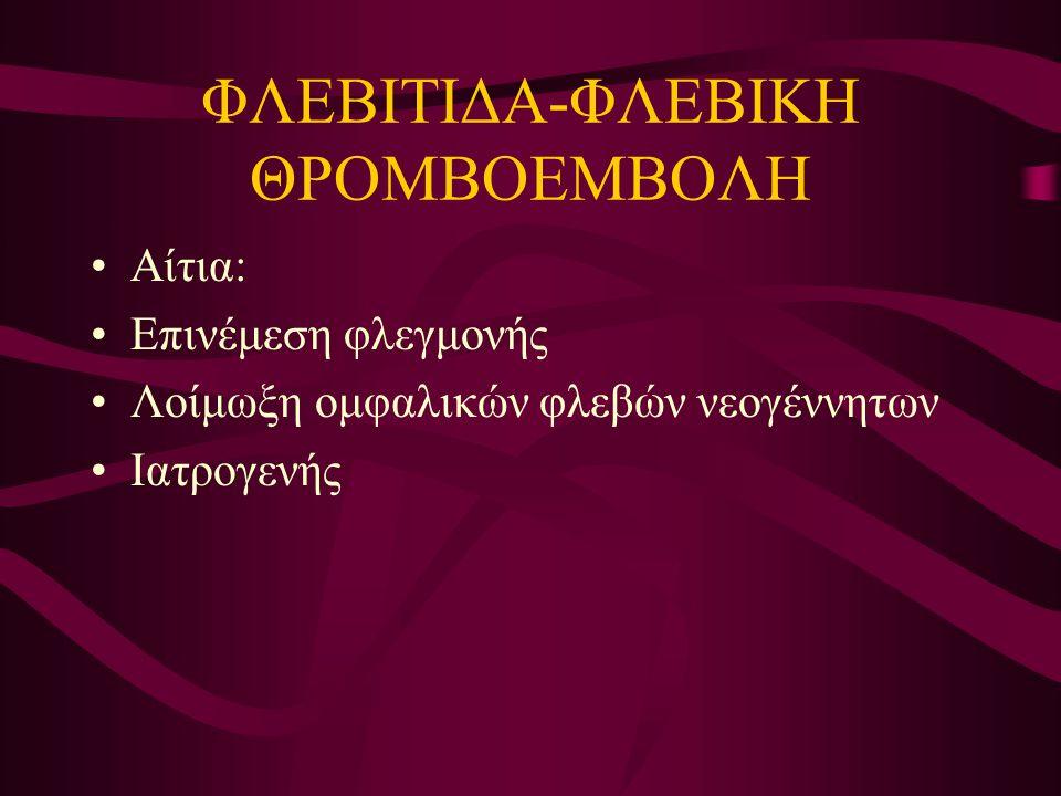 ΦΛΕΒΙΤΙΔΑ-ΦΛΕΒΙΚΗ ΘΡΟΜΒΟΕΜΒΟΛΗ