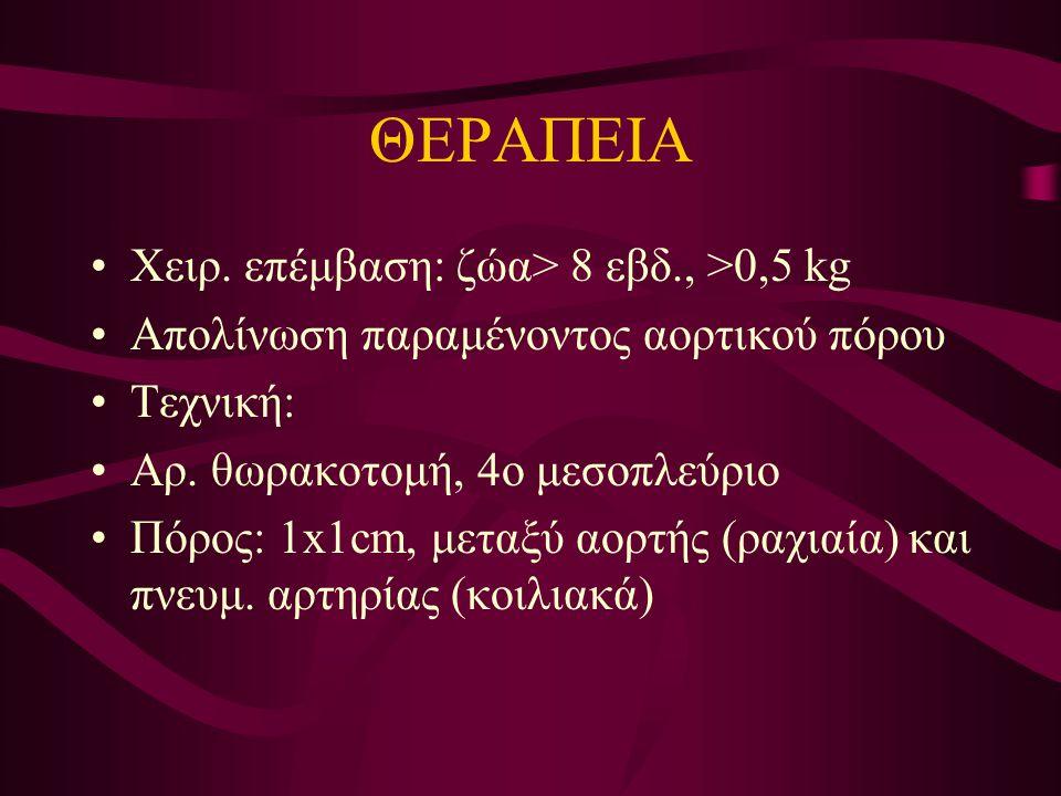 ΘΕΡΑΠΕΙΑ Χειρ. επέμβαση: ζώα> 8 εβδ., >0,5 kg