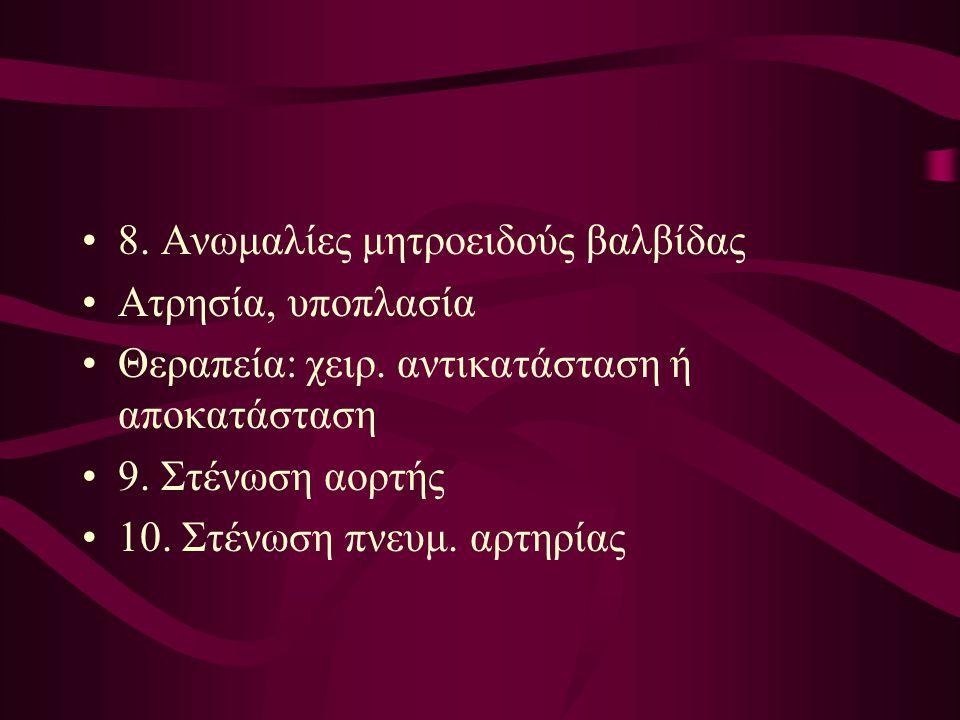 8. Ανωμαλίες μητροειδούς βαλβίδας
