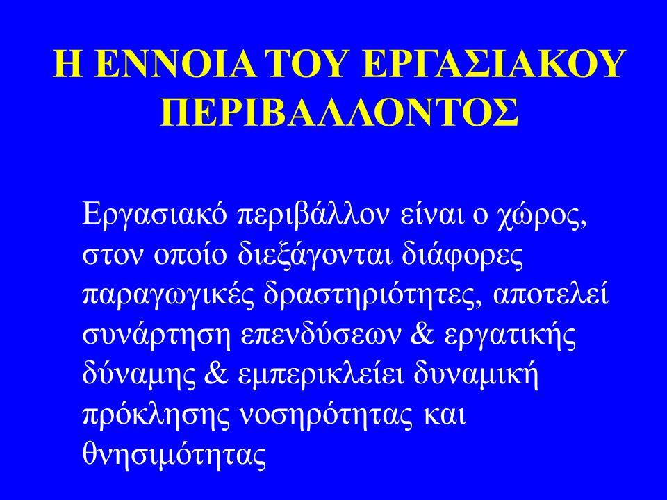 Η ΕΝΝΟΙΑ ΤΟΥ ΕΡΓΑΣΙΑΚΟΥ ΠΕΡΙΒΑΛΛΟΝΤΟΣ