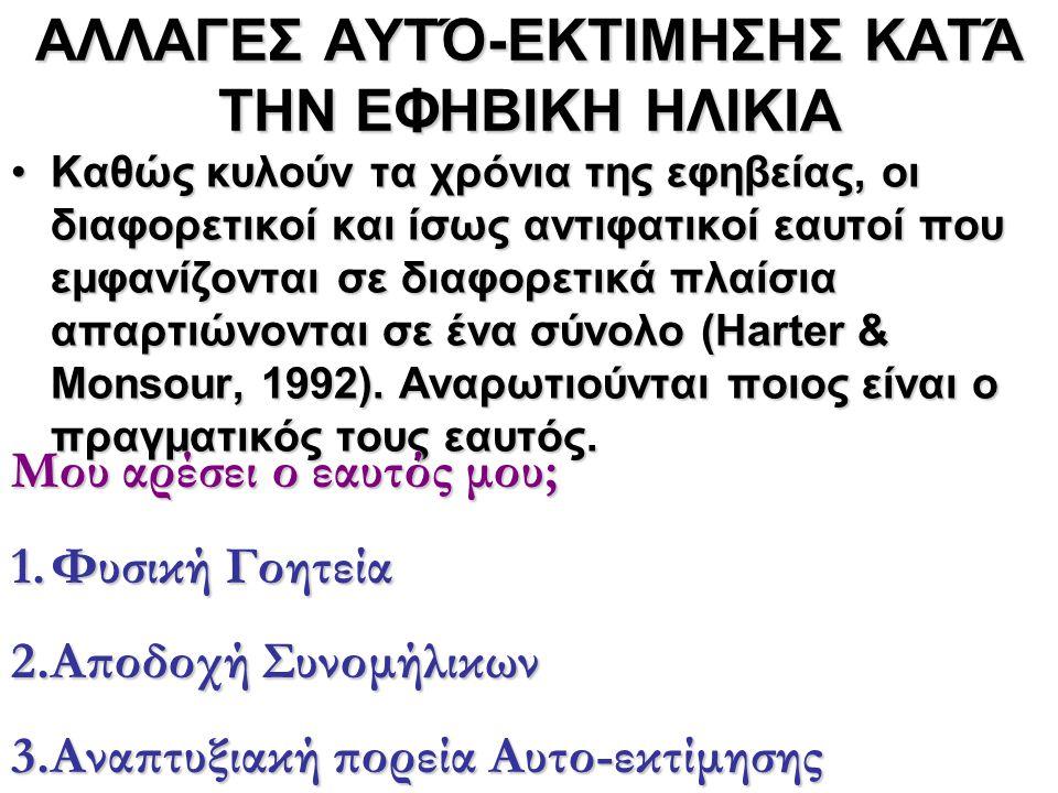 ΑΛΛΑΓΕΣ ΑΥΤΌ-ΕΚΤΙΜΗΣΗΣ ΚΑΤΆ ΤΗΝ ΕΦΗΒΙΚΗ ΗΛΙΚΙΑ
