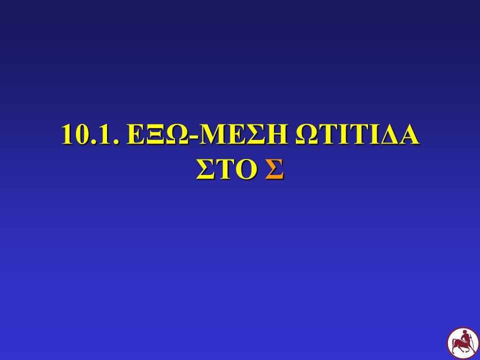 10.1. ΕΞΩ-ΜΕΣΗ ΩΤΙΤΙΔΑ ΣΤΟ Σ