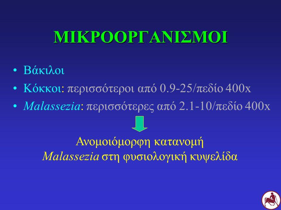 ΜΙΚΡΟΟΡΓΑΝΙΣΜΟΙ Βάκιλοι Κόκκοι: περισσότεροι από 0.9-25/πεδίο 400x