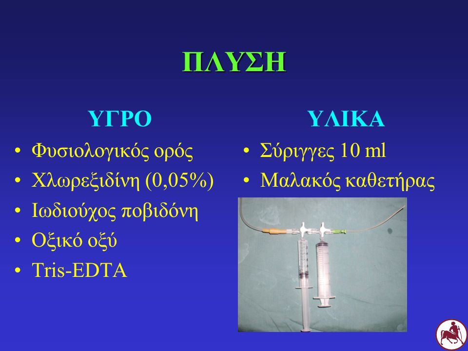 ΠΛΥΣΗ ΥΓΡΟ ΥΛΙΚΑ Φυσιολογικός ορός Χλωρεξιδίνη (0,05%)