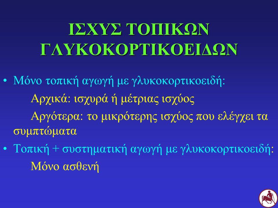 ΙΣΧΥΣ ΤΟΠΙΚΩΝ ΓΛΥΚΟΚΟΡΤΙΚΟΕΙΔΩΝ