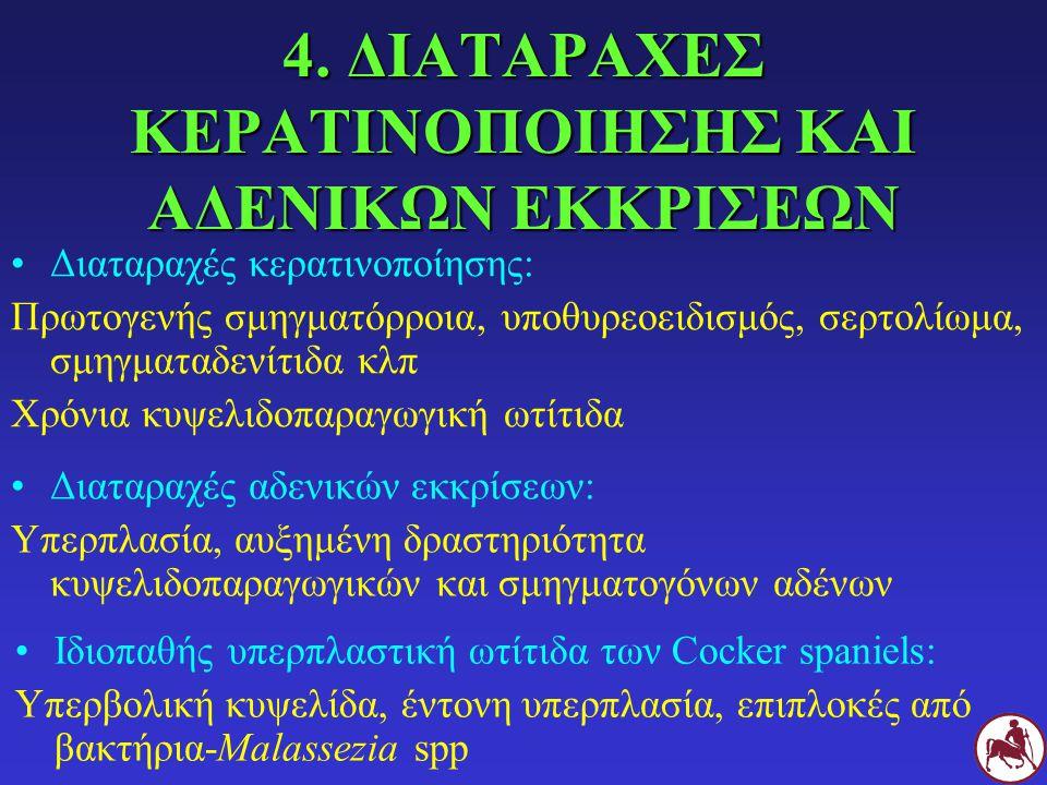 4. ΔΙΑΤΑΡΑΧΕΣ ΚΕΡΑΤΙΝΟΠΟΙΗΣΗΣ ΚΑΙ ΑΔΕΝΙΚΩΝ ΕΚΚΡΙΣΕΩΝ