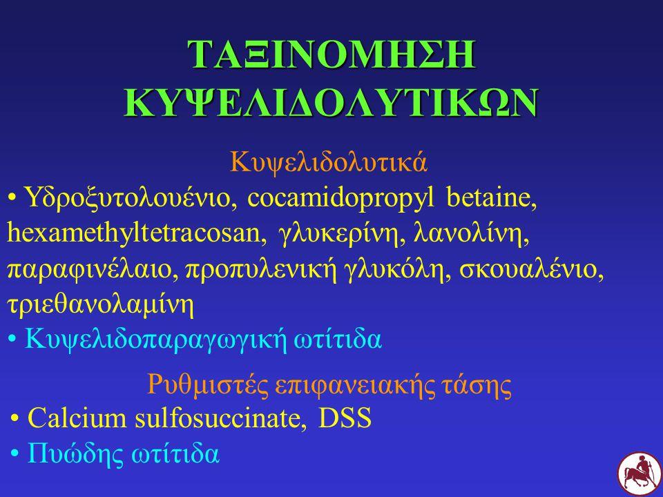 ΤΑΞΙΝΟΜΗΣΗ ΚΥΨΕΛΙΔΟΛΥΤΙΚΩΝ