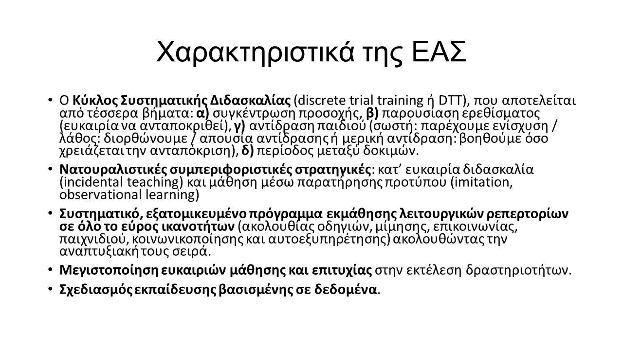Χαρακτηριστικά της ΕΑΣ
