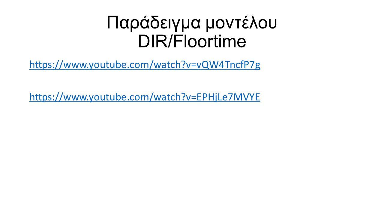 Παράδειγμα μοντέλου DIR/Floortime
