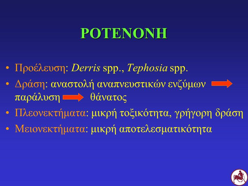 ΡΟΤΕΝΟΝΗ Προέλευση: Derris spp., Tephosia spp.