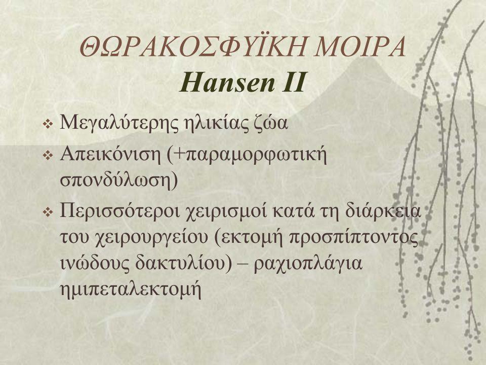 ΘΩΡΑΚΟΣΦΥΪΚΗ ΜΟΙΡΑ Hansen IΙ