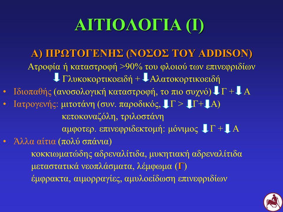 Α) ΠΡΩΤΟΓΕΝΗΣ (ΝΟΣΟΣ ΤΟΥ ADDISON)