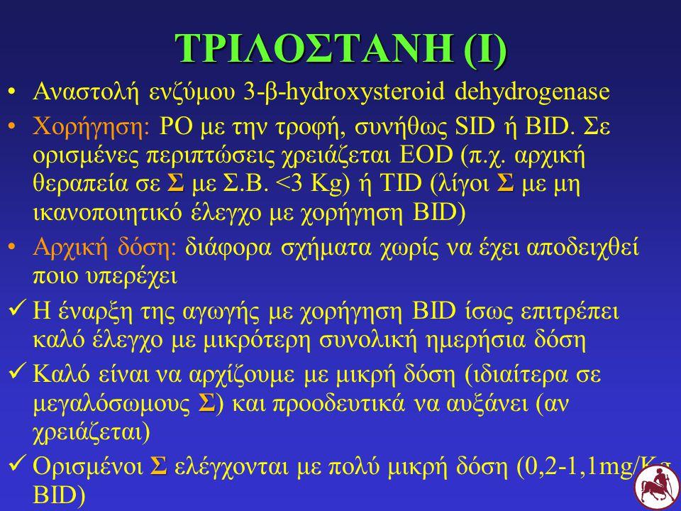ΤΡΙΛΟΣΤΑΝΗ (Ι) Αναστολή ενζύμου 3-β-hydroxysteroid dehydrogenase