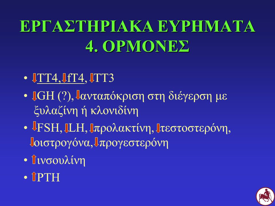 ΕΡΓΑΣΤΗΡΙΑΚΑ ΕΥΡΗΜΑΤΑ 4. ΟΡΜΟΝΕΣ