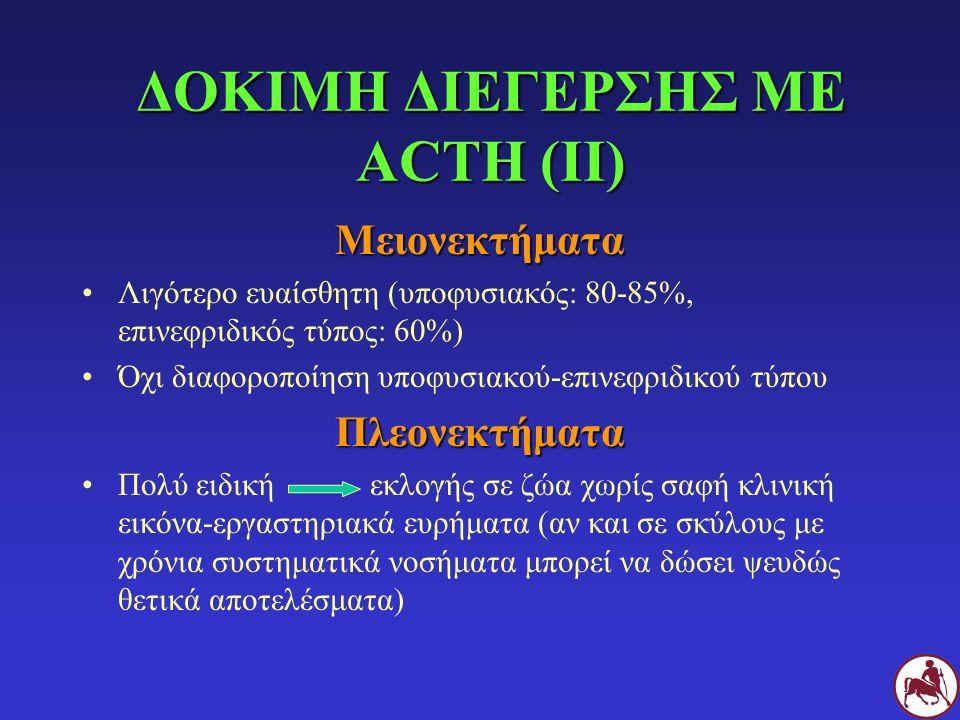 ΔΟΚΙΜΗ ΔΙΕΓΕΡΣΗΣ ΜΕ ACTH (ΙΙ)