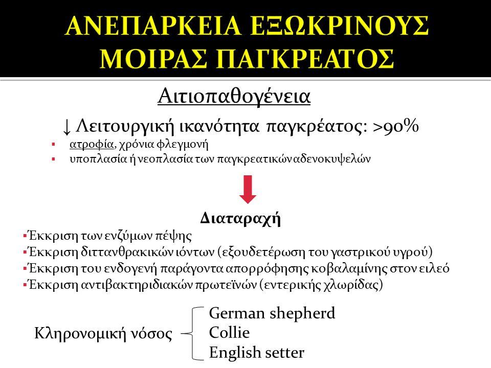 ΑΝΕΠΑΡΚΕΙΑ ΕΞΩΚΡΙΝΟΥΣ ΜΟΙΡΑΣ ΠΑΓΚΡΕΑΤΟΣ
