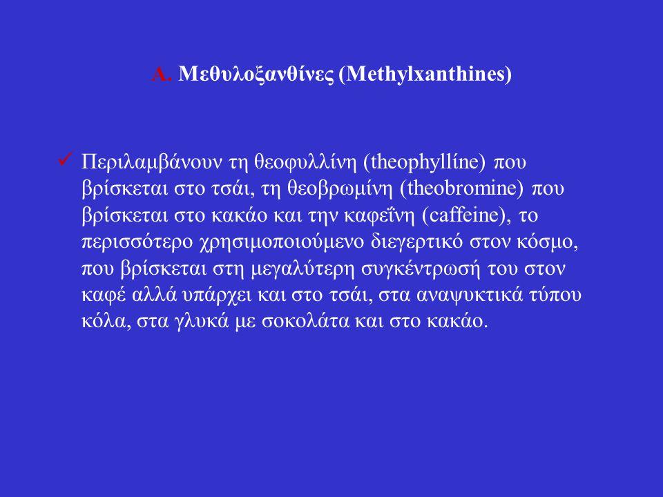 Α. Μεθυλοξανθίνες (Methylxanthines)