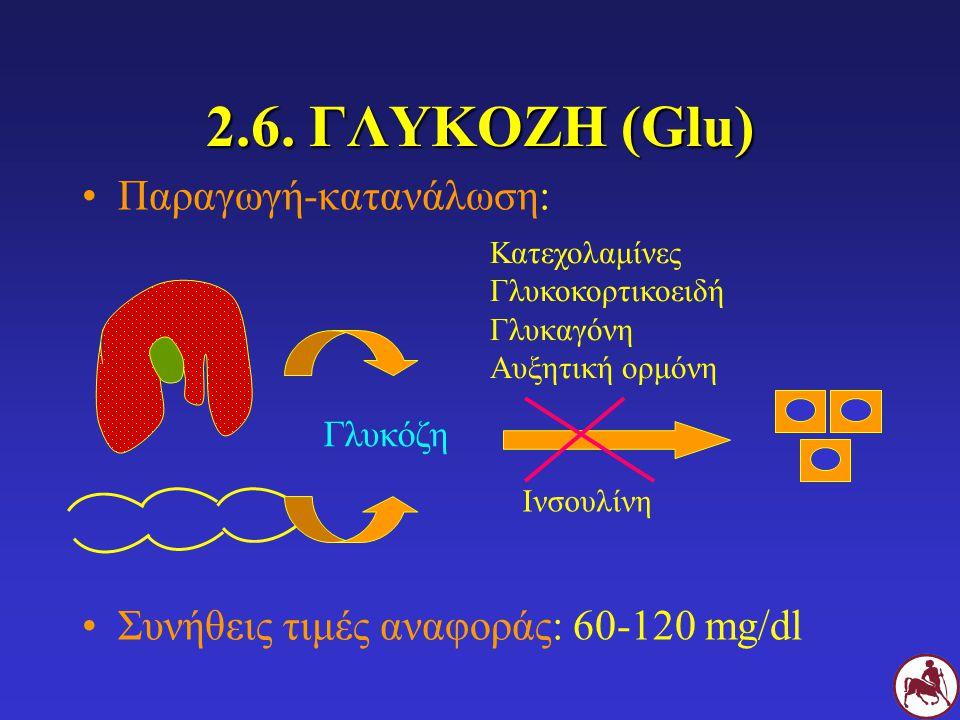2.6. ΓΛΥΚΟΖΗ (Glu) Παραγωγή-κατανάλωση: