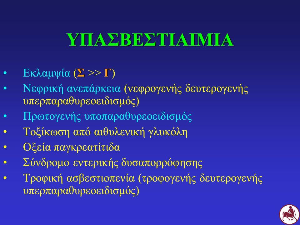 ΥΠΑΣΒΕΣΤΙΑΙΜΙΑ Εκλαμψία (Σ >> Γ)