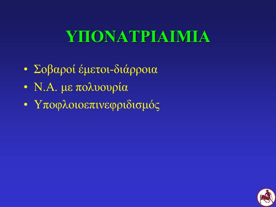 ΥΠΟΝΑΤΡΙΑΙΜΙΑ Σοβαροί έμετοι-διάρροια Ν.Α. με πολυουρία