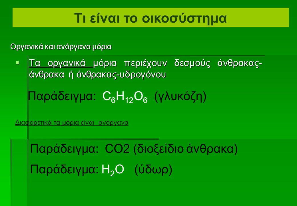 Οργανικά και ανόργανα μόρια