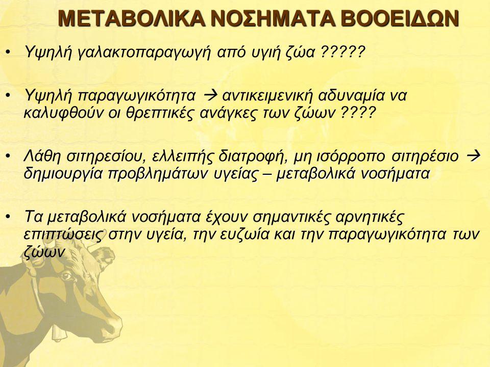 ΜΕΤΑΒΟΛΙΚΑ ΝΟΣΗΜΑΤΑ ΒΟΟΕΙΔΩΝ