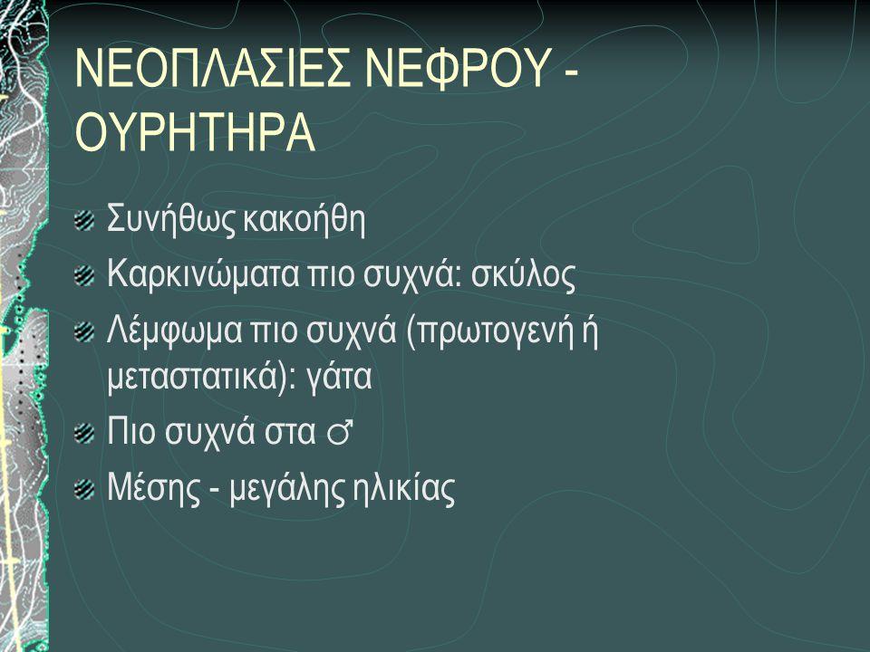 ΝΕΟΠΛΑΣΙΕΣ ΝΕΦΡΟΥ - ΟΥΡΗΤΗΡΑ