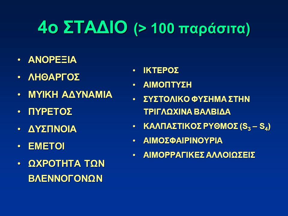 4ο ΣΤΑΔΙΟ (> 100 παράσιτα)