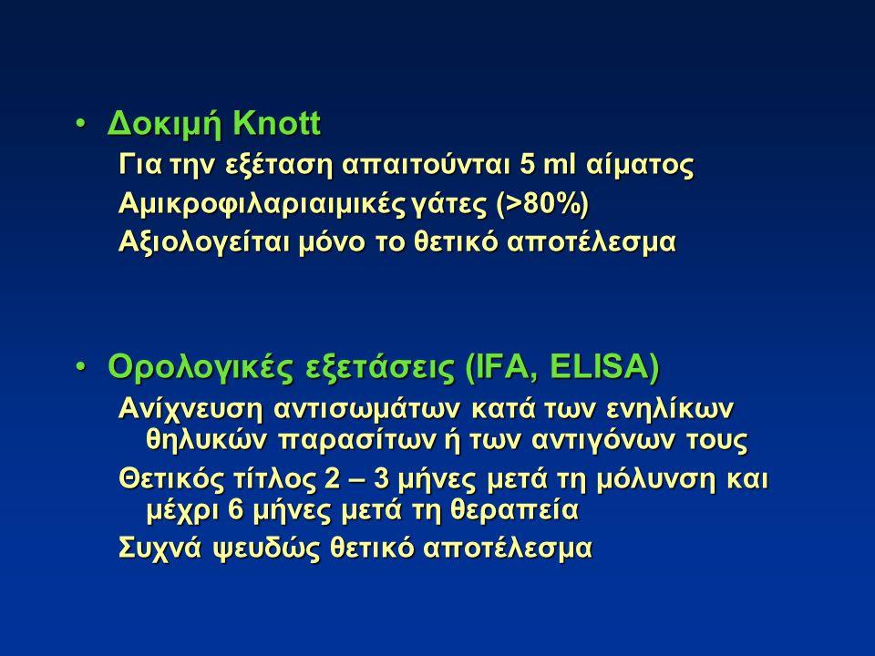 Ορολογικές εξετάσεις (IFA, ELISA)