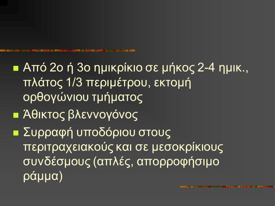 Από 2ο ή 3ο ημικρίκιο σε μήκος 2-4 ημικ