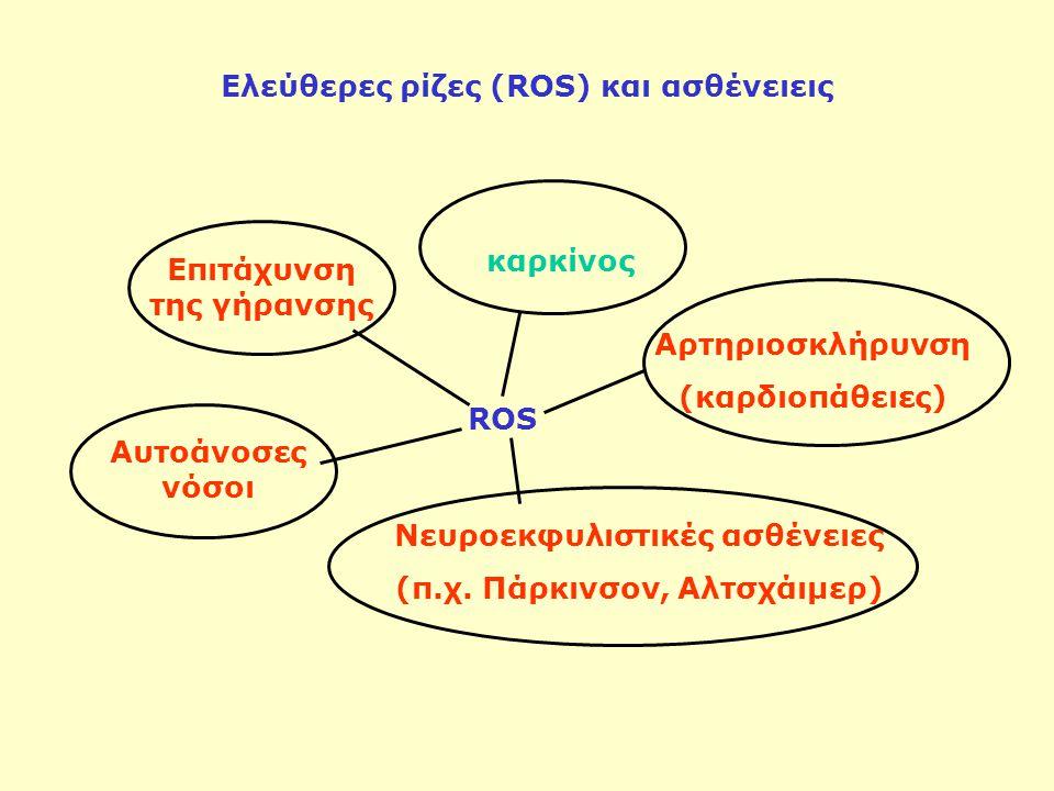 Ελεύθερες ρίζες (ROS) και ασθένειεις