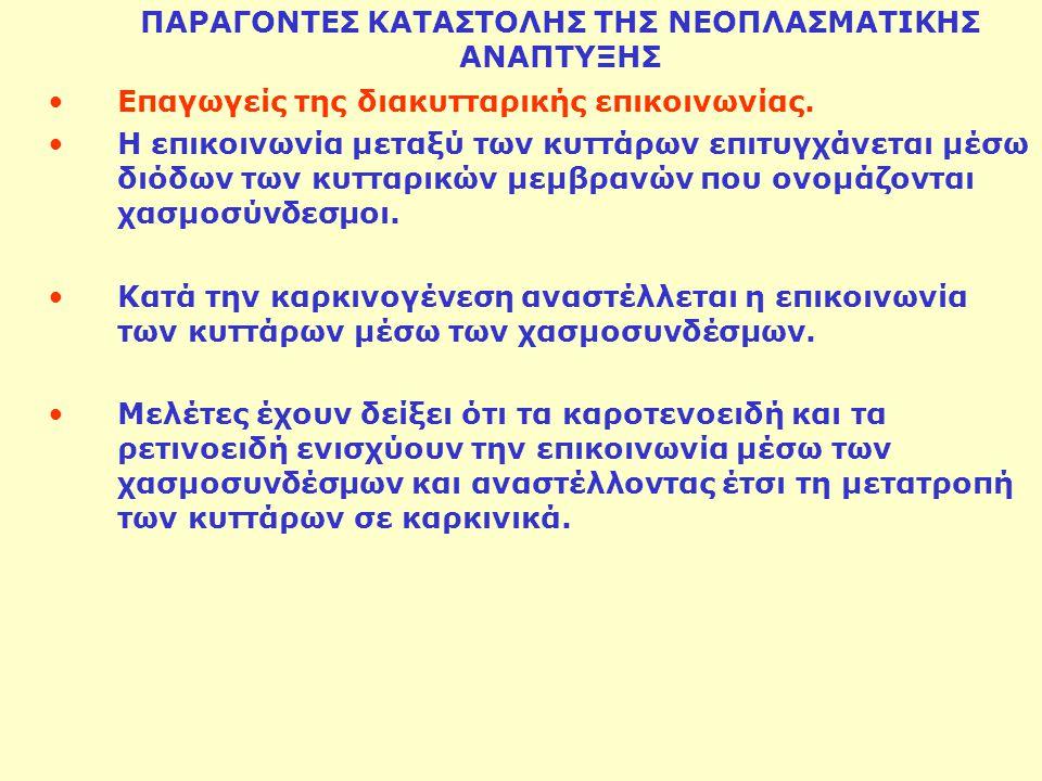 ΠΑΡΑΓΟΝΤΕΣ ΚΑΤΑΣΤΟΛΗΣ ΤΗΣ ΝΕΟΠΛΑΣΜΑΤΙΚΗΣ ΑΝΑΠΤΥΞΗΣ
