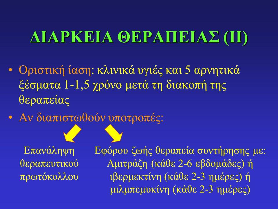 ΔΙΑΡΚΕΙΑ ΘΕΡΑΠΕΙΑΣ (ΙΙ)