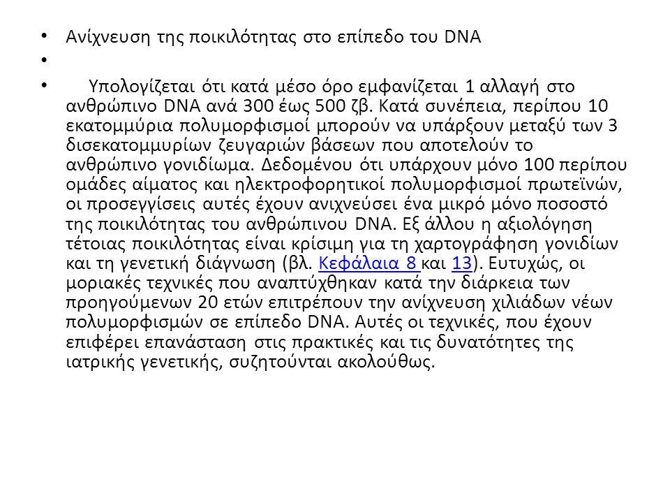 Ανίχνευση της ποικιλότητας στο επίπεδο του DNA