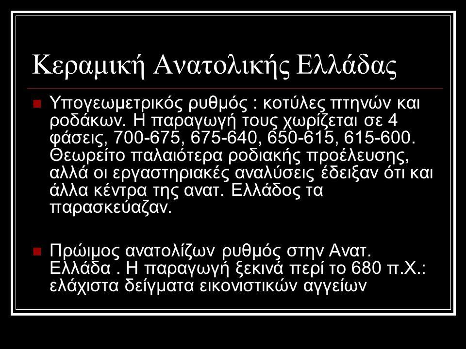 Κεραμική Ανατολικής Ελλάδας