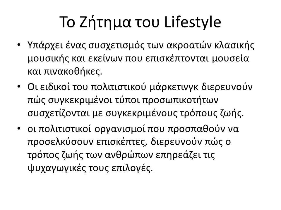 Το Ζήτημα του Lifestyle