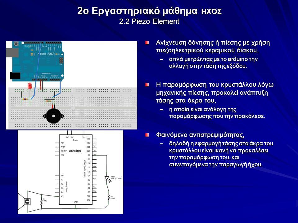 2o Εργαστηριακό μάθημα ΗΧΟΣ 2.2 Piezo Element