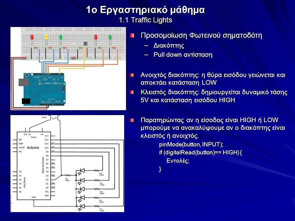 1o Εργαστηριακό μάθημα 1.1 Traffic Lights