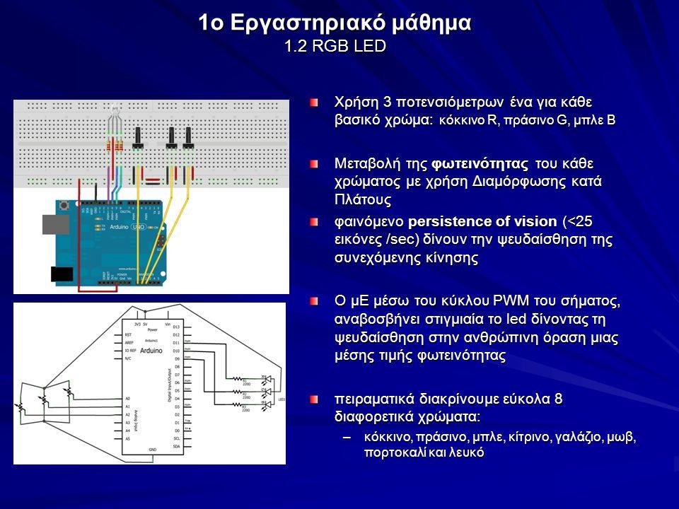 1o Εργαστηριακό μάθημα 1.2 RGB LED